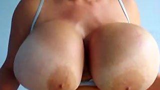Maxi Mounds big boob muscle control
